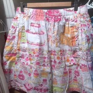 """! Lilly Pulitzer """"Let them eat cake"""" skirt. Large."""
